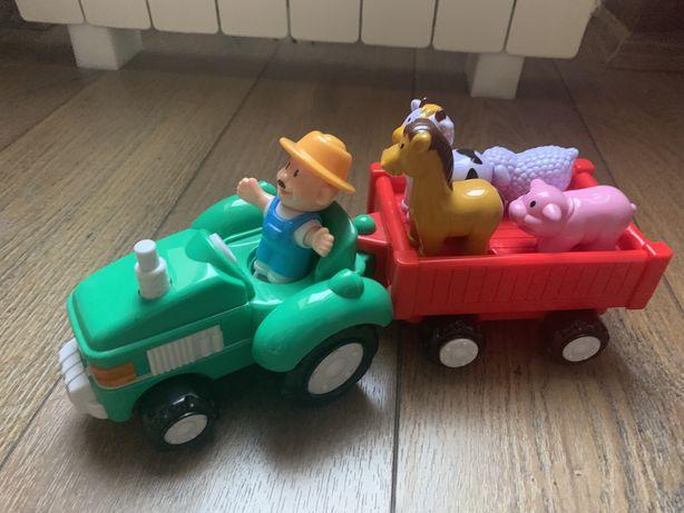 Jucarie muzicala, Tractor cu fermier, animale de ferma