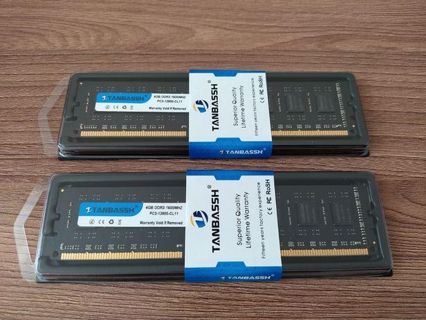 Продам новые модули памяти 4 gb DDR3 1600MHz Tanbassh