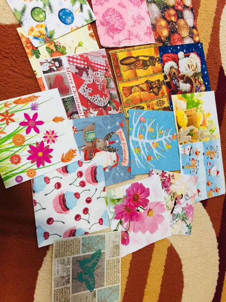 Над 3000 разнообразни колекционерски салфетки и за декупаж