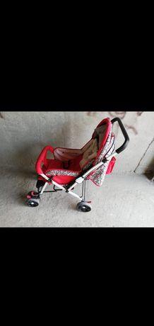Продам коляску детскую. В хорошем состоянии, цвет красный