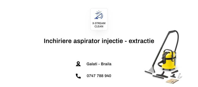 NOU in Galati - Inchiriere aspirator injectie - extractie Karcher 4002