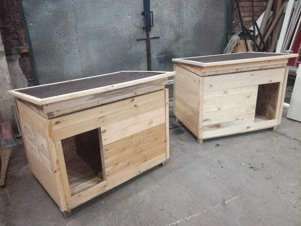 Будка для собак с утеплением и откидной крышей
