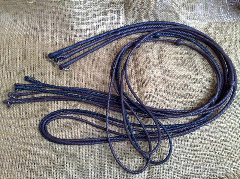 Ремък за кремъчен или капсулен пищов, плетен кожен темляк , шнур гр. Бургас - image 1