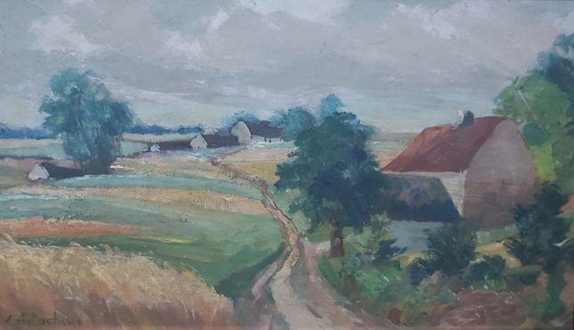 artachino constantin – peisaj – autentificat - tablou vechi