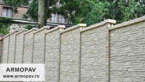 Gard prefabricat decorativ din beton armat Prahova