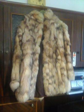 Палто от лисица - естествен косъм
