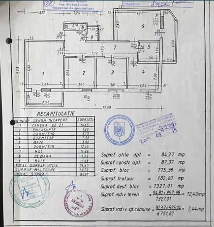 Apartament 4 camere de vânzare Slobozia