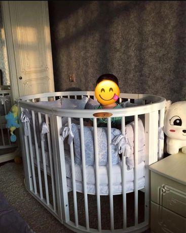 Кроватка трансформер 8 в 1 Premium baby