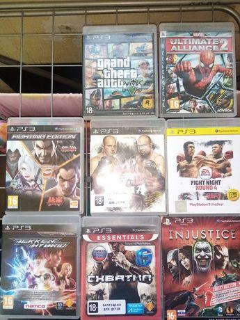 MMA /Бокс/Tekken 3 в 1 /GTA5 и многое другое Диски на PS3