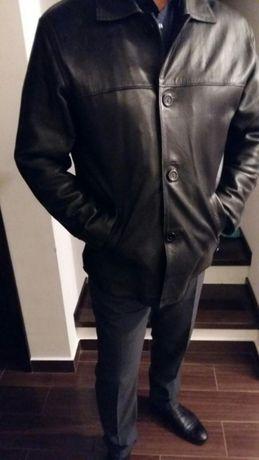 Jacheta piele naturala cu mesada detasabila