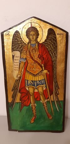 Icoana,pictata,lemn,Arhanghelul Mihail