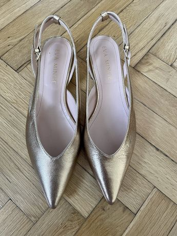 Balerini/pantofi aurii 38 Eva Mingle