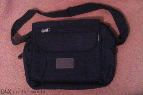 Черна шушлякова чанта и плетена дамска чантичка