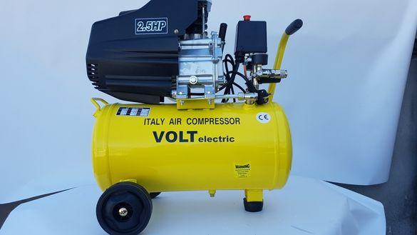 Компресор за въздух 25L Volt Electric 2.5 Hp с два изхода за въздух