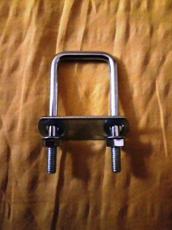 Sistem complet clema colier brida surub fixare plasa gard bordurat