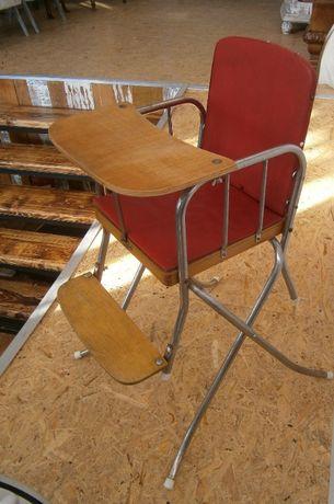 Scaun de masa copii, vechi, anii '70 (Scaunel/Retro/Vintage/Recuzita)