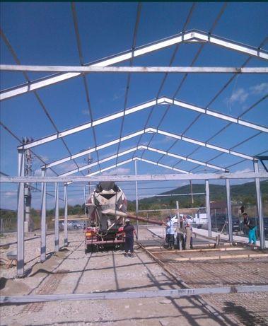 Vând hala metalica din profile ipe de 180 ferme și stâlpi