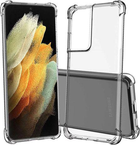 Прозрачен Силиконов Удароустойчив Кейс за Samsung Galaxy S21 / Ultra +