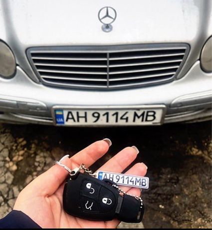 Автобрелок с гос номером, подарок на 7 мая