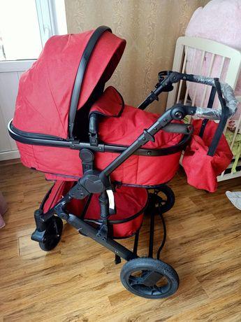 Продам коляску в бордовом цвете , как новая
