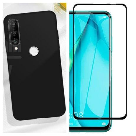Huawei P40 Lite / E Husa Silicon Catifea si Folie Sticla Curbata 11D