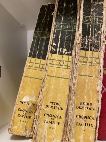 3 volume CRONICA DE FAMILIE/ petru dumitriu