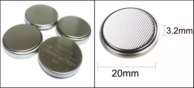 Батарейки CR 2032 С напряжением 3V