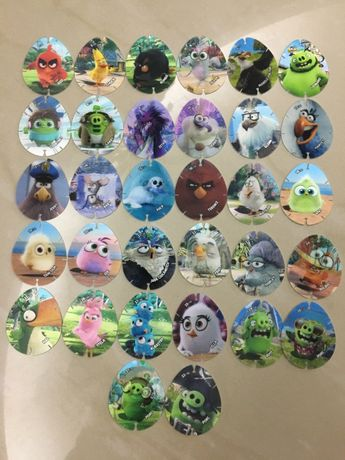 """""""Angry Birds 2"""" holografice, set complet+cadou"""