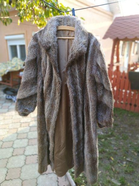 Palton blana naturala, autentic, de dama