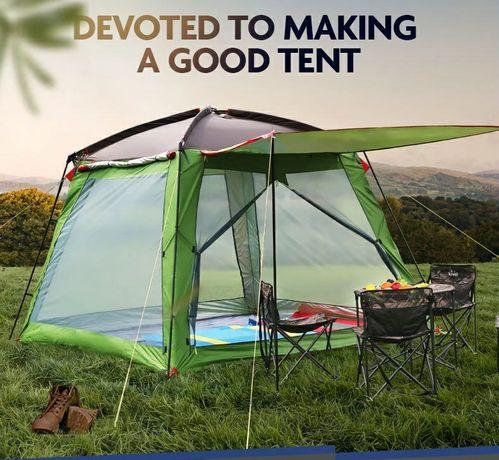 Палатка шатер беседка на 5-6 чел с съёмным полом отличной вентиляцией