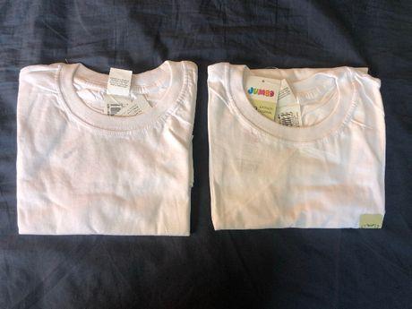 Две бели тениски - 8 год., 130 см