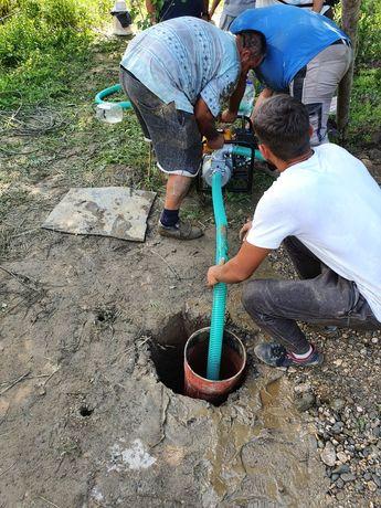Foraje puțuri apă piloni ,denisipări si adâncirii