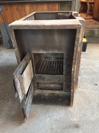 Банная печь, бак 200л, сухопарник