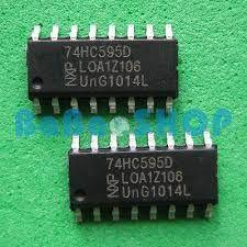 Shift register 74hc595 Sop16 driver display cu 7 segmente