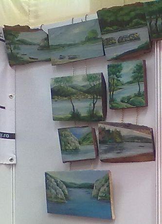 Pictura pe lemn colectia DUNAREA PE LEMN autor consacrat