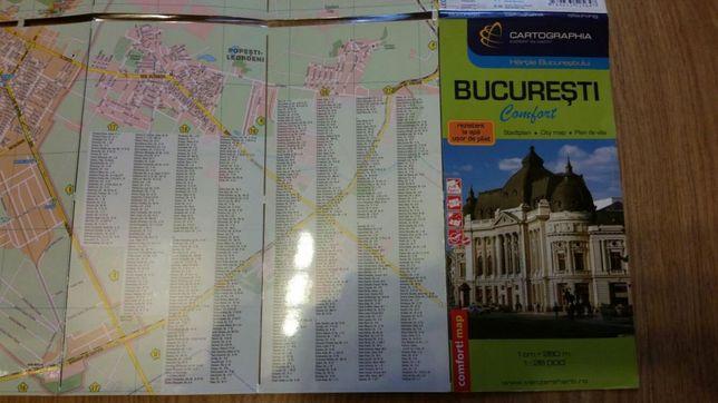 Harta auto Bucuresti, plastificata