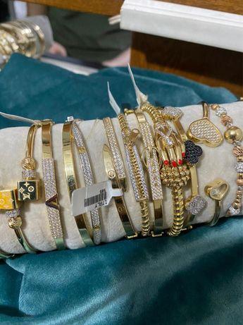 Золотые браслеты Cartier, pandora, tiffany