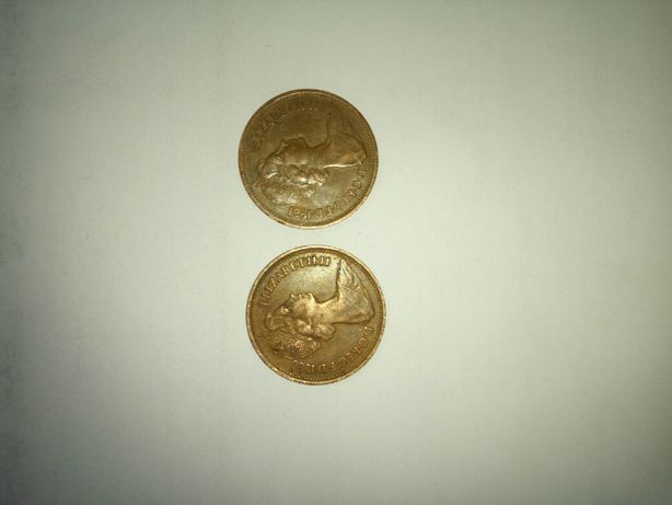 2 new pence 1980 și 2 new pence 1981