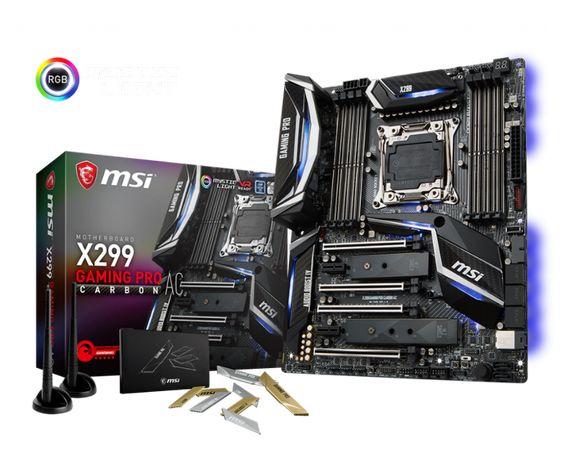 Новая материнская плата MSI X299 GAMING PRO CARBON,X299,LGA2066