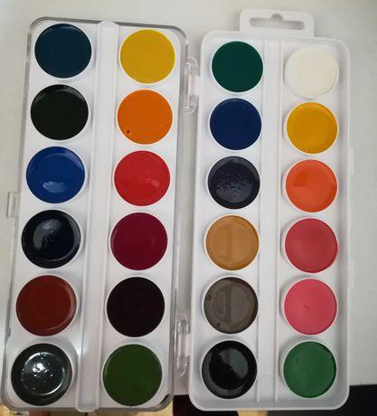 Acuarele pentru copii, 24 de culori(rușești)