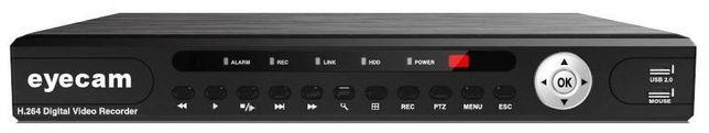 DVR 16 Canale Pentabrid 5 in 1 XVR 1080N 5MP Eyecam EC-XVR4107