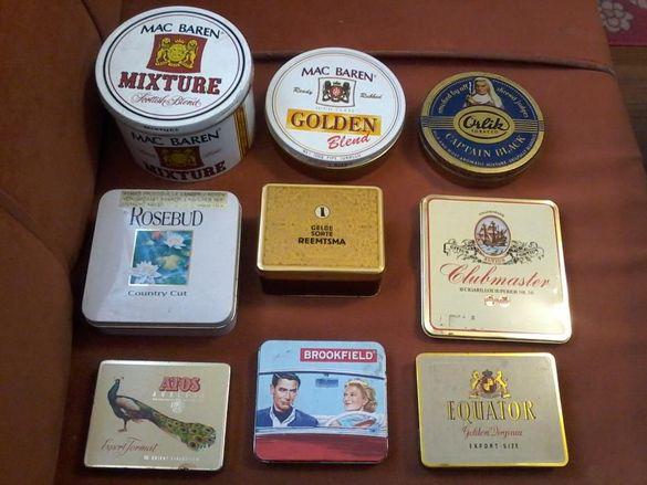 Кутийки от пурички и тютюн за колекционери