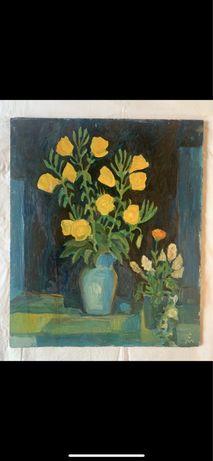 Картина жълти цветя