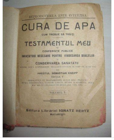 CARTE RARĂ —>Cura de Apă—Sebastian Kneipp