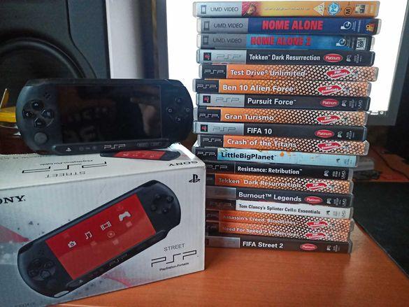 Playstation PSP Street + 15 Игри + 3 Филма + Екстри
