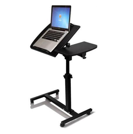 Masuta Laptop Reglabila, Cu Roti , Design Elegant, Neagra