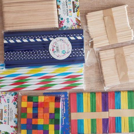 Дървени пръчици за декорации и проекти