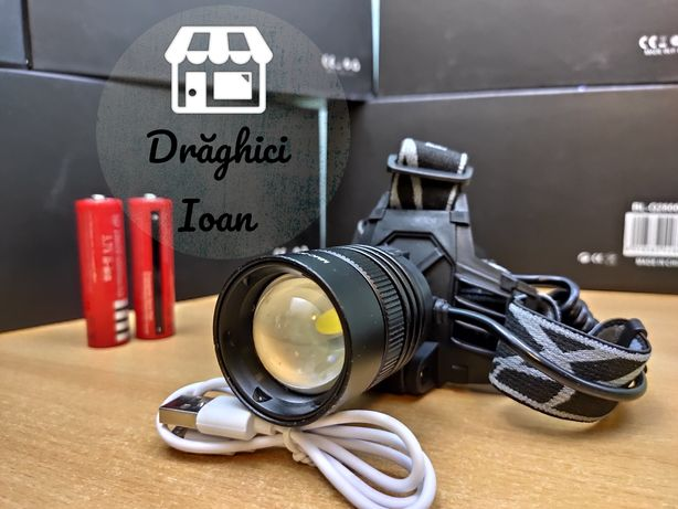 XHP50.2- Lanterna de cap metalica cu lupa și zoom MODEL NOU 2020