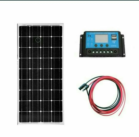 Kit fotovoltaic 100w -180w - 200w + controler Lcd + cablu