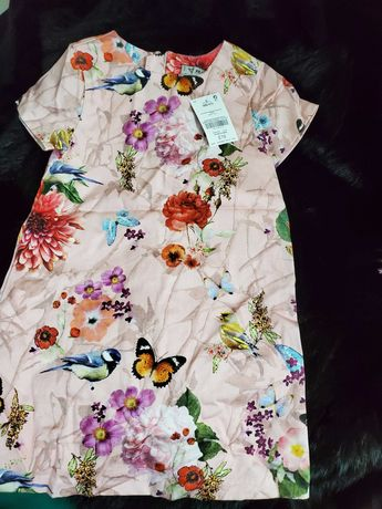 Rochita marca Next, imprimeu superb pasari,fluturi, flori pictura